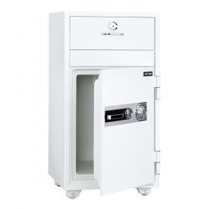 【事務用品】投入式耐火金庫 容量52ℓ 1時間耐火 ダイヤル式