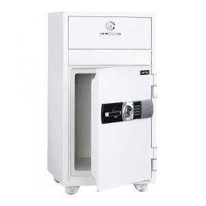 【事務用品】投入式耐火金庫 容量52ℓ 1時間耐火 テンキー式