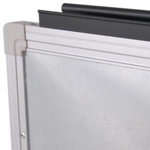 【事務用品】折りたたみ式 片面ホワイトボード|-