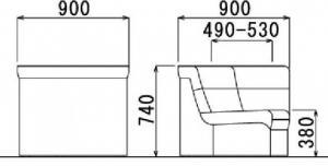 【コーナーに華を】応接用 コーナータイプ ビニールレザー張り コーナー用