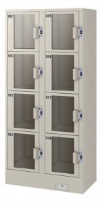 エーコー アクリル窓付きコインロッカー(2列4段8人用) JC-2408A 78.5kg