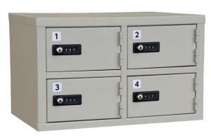 エーコー 貴重品保管庫(2列2段) ダイヤルロック LK-304 5.5kg