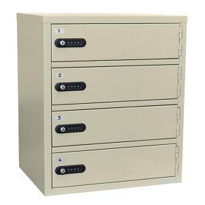 エーコー 貴重品保管庫(4段) ダイヤルロック LK-308-4 9.3kg