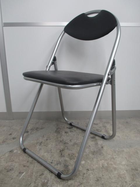 【会議やイベント用にオススメ!】■パイプイス ブラック ■【定番の人気商品!】折り畳み椅子