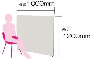 メラミン ローパーテーション 横幅1000mm 高さ1200mm【事務用品】