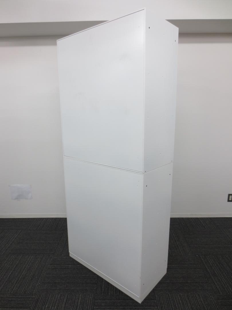 【清潔感のあるホワイト書庫が大量入荷&状態良好】■コクヨ製 ■ユニフレックス ■カラー:人気のホワイト 上置:両開き 下置:3段ラテラル|ユニフレックス[UFX](中古)