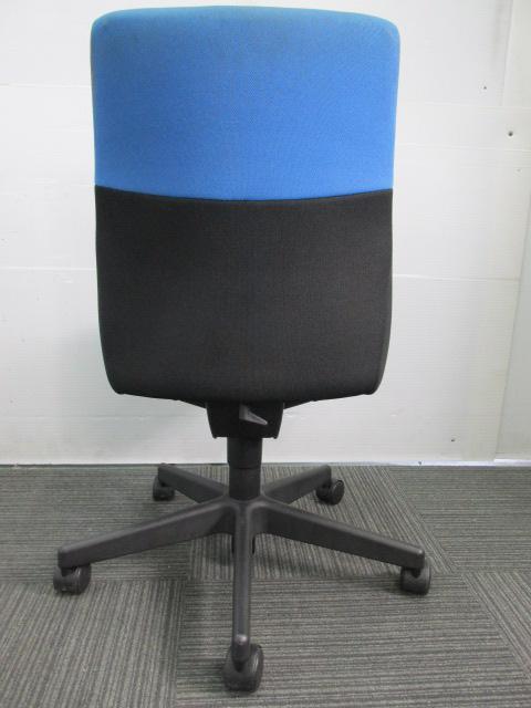 【国内メーカー品】コクヨ製 コラードチェア 肘無 ブラック×ブルー                         コラード                                     中古