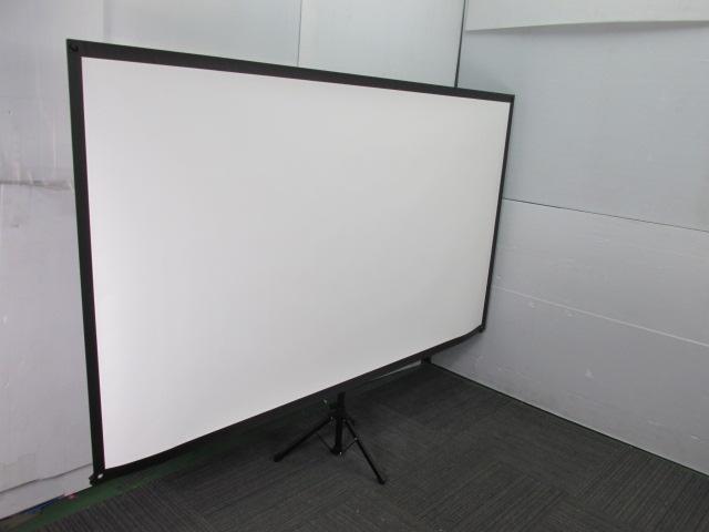 【持ち運び便利】エプソン製|ロールスクリーン|ELPSC21B|自立式                                                              中古