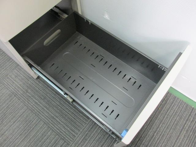 【デスクの延長に】オカムラ脇机SD デスクの収納力アップ                         SD-V                                     中古