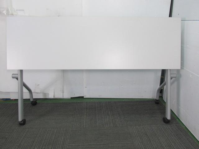 【会議・研修用にオススメ】アイリスチトセ|スタックテーブル|ホワイト                                                              中古