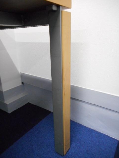 [残り1台][4~6名様用に最適サイズ]幅1800mmの会議用テーブルが入荷いたしました![木目天板がオフィスを明るい雰囲気に演出]|サイズ[cyze](中古)