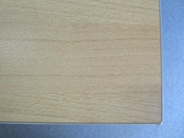 【シンプルデザインで使いやすい】■ミーティングテーブル【4人用の打合せに最適!W1200mmサイズ】■ウチダ 会議用テーブル ナチュラル(木目柄)                         ウチダ ST-1000シリーズ ST-1100/ST-1200                                     中古