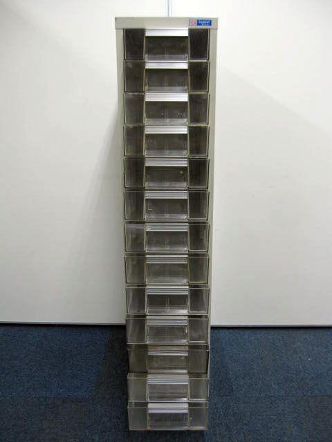 多段トレーキャビネット1列13段タイプ 浅型13段 使用感高い為安い                                                              中古