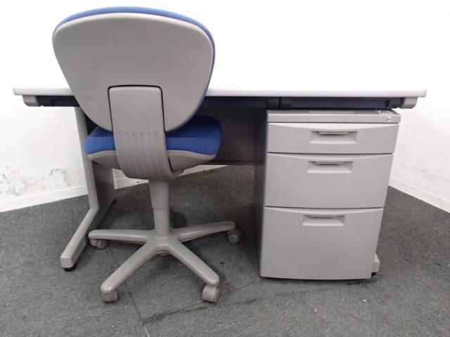 【セット商品】|【ロット入荷】|平机+3段ワゴン+オフィスチェアの3点セット!
