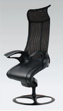 しなやかなネコ科の脚のような構造…その名も「レオパード」チェア! ハイバック リングベース 革座面[Leopard]