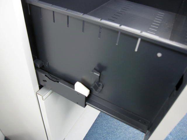 【訳あり品】シンライン 3段ラテラル 引出上段カバーの割れ 天板欠け有り                         シンライン                                     中古