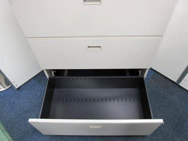 【定番品】シンライン 3段ラテラル 天板付き オフィスの必需品                         シンライン                                     中古
