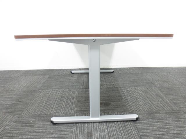 ■ミーティングテーブル(会議用テーブル) ■人気のブラウンカラー■W1500×D920×H700mm(4人用サイズ)【T字脚タイプ】                                                               中古
