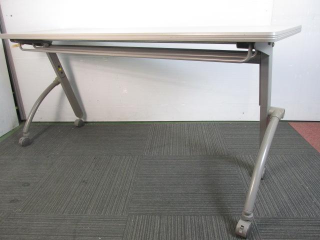 【天板折りたたみ】サイドスタックテーブル キャスター付き                                                              中古