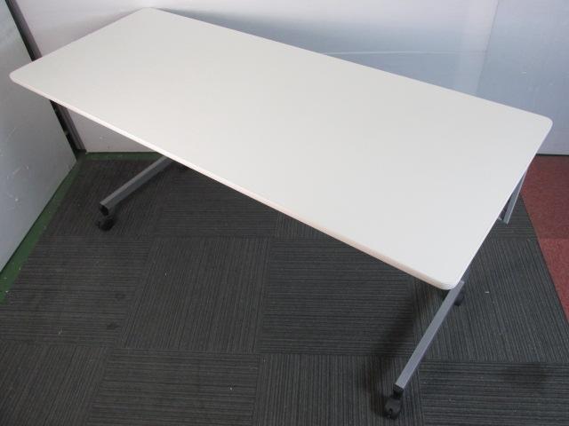 【折りたたみ式天板】奥行き広め サイドスタックテーブル                                                               中古