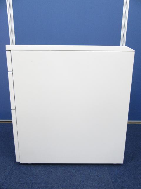 [人気のホワイトワゴン]コクヨ(KOKUYO) 3段ワゴン iSデスクシステム■清潔感溢れるホワイトはオフィス・ご自宅・お子様の学習用としてもおすすめです!![鍵2本付属]                         iS                                     中古