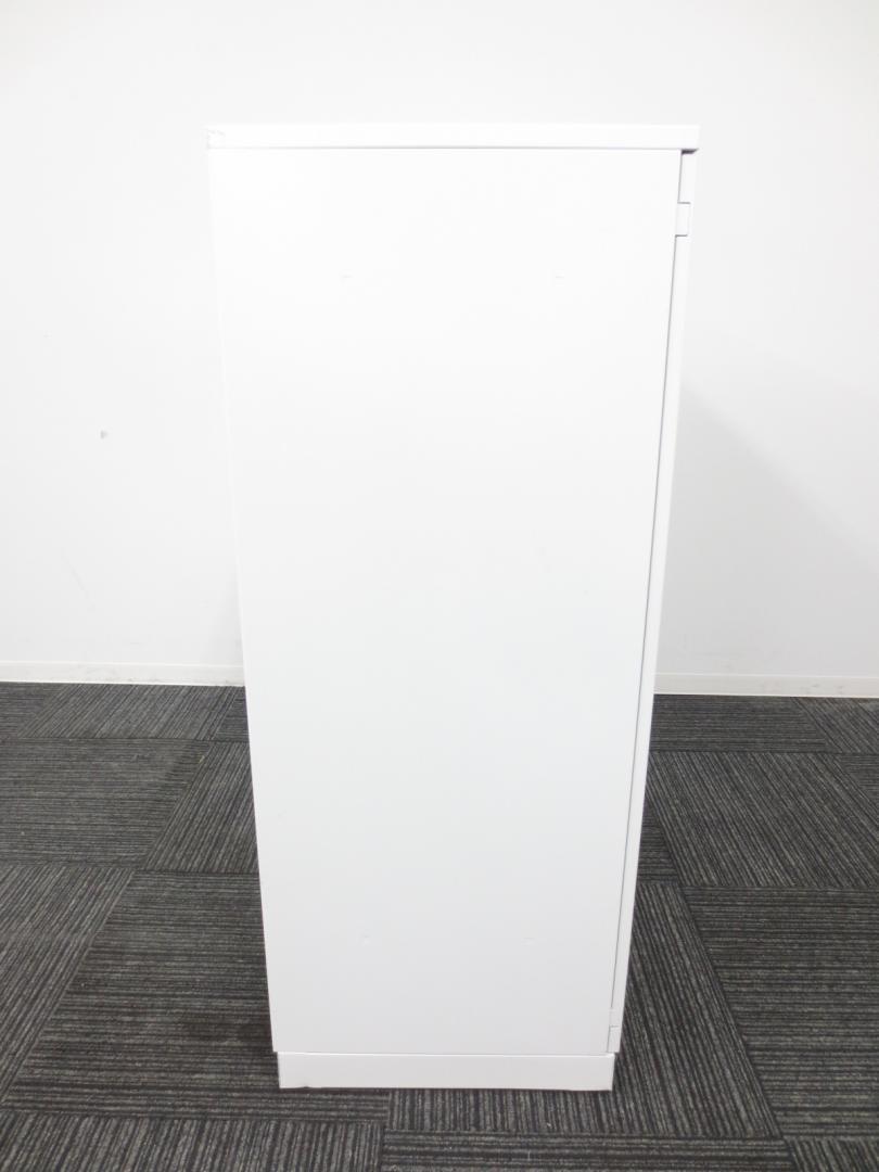 【人気カラーのホワイト!!】両開き書庫 コクヨ製 状態良好なのでおすすめです!【天板付き】 |HSシリーズ(中古)