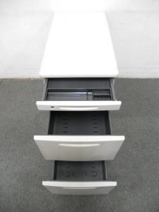 ■オカムラ 脇机3段 ■A4ファイル2段収納対応タイプ! ■【岡村製作所】SD-Vシリーズ デスクサイドキャビネット(中古)