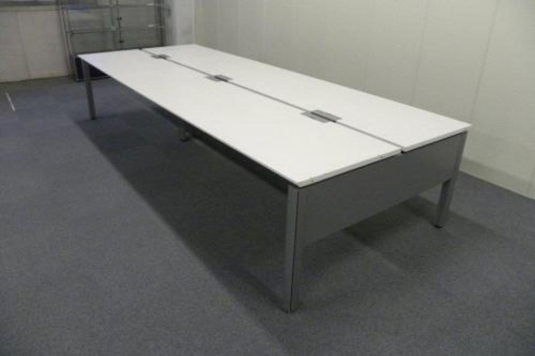 W2800 ホワイト天板■内田製フリーアドレス【フリアド】■空間を有効活用できます!