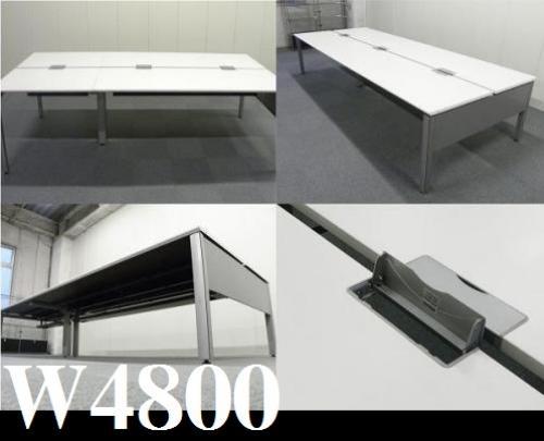 w4800 ナチュラル天板■自由自在にデスクを使いましょう■あの渋谷の大手メーカーでも使用!?|ワークゲート[WORKGATE](中古)