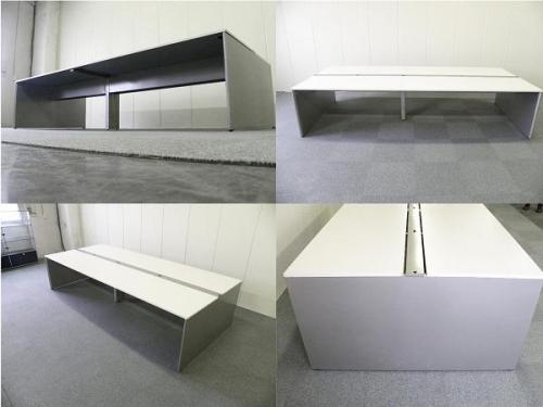 【倉庫保管品にて在庫確認致します】W3200 ホワイト天板■イトーキ製フリーアドレス【フリアド】■空間を有効活用できます![INTERLINK](中古)
