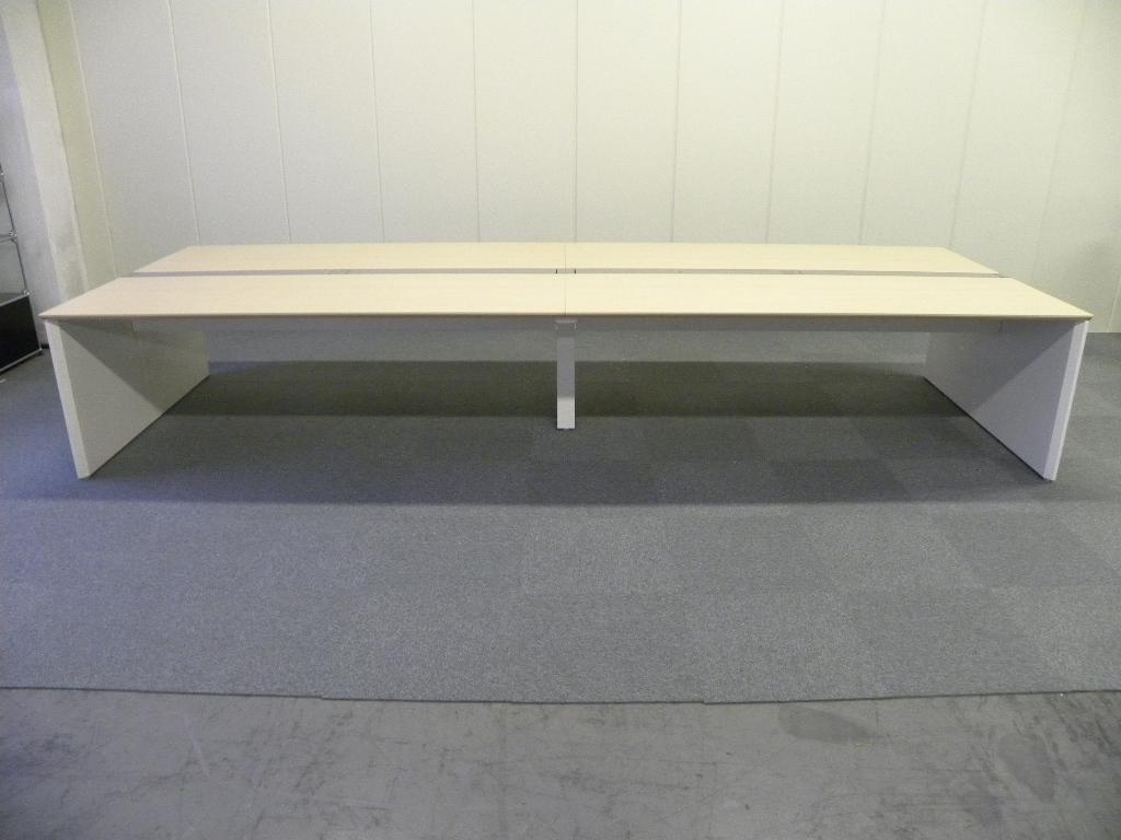 W2400 ナチュラル天板■オカムラ製フリーアドレス【フリアド】■空間を有効活用できます!|プロユニットフリーウェイ[ProUnit Freeway](中古)