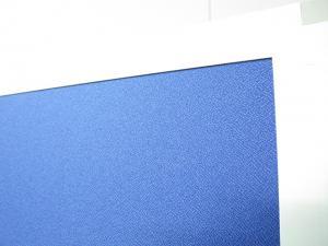 ■ローパーティション2枚セット■W1800(W900×2枚)×H1800mm【両サイド安定脚付】■ブルー(クロス張り)|UK