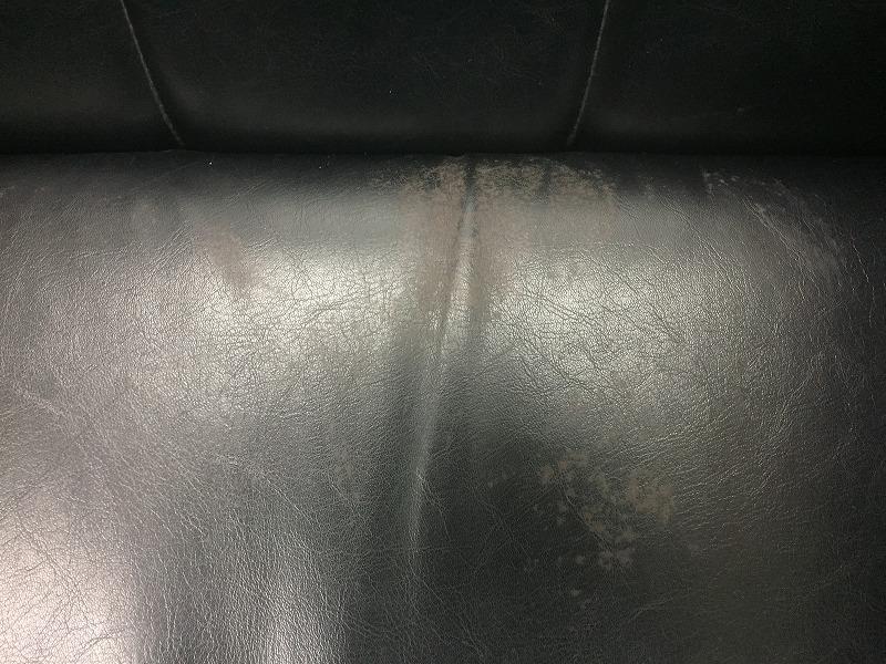 【オリバー製】ブラック色でどんなオフィスにも合う応接セット!足に少し傷などございます。