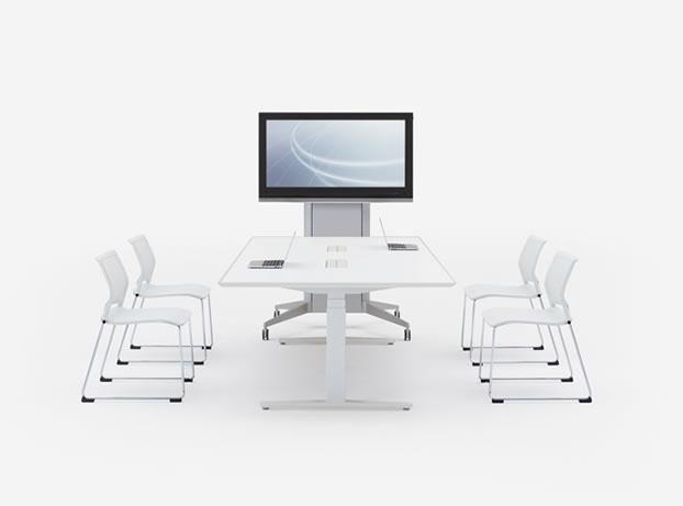 【上下昇降可能テーブル】次世代のデスク!座らずにデスクワークが出来ます!【会議室用タイプ】オカムラ製スイフトシリーズ【各種在庫確認出来ます】|Swift