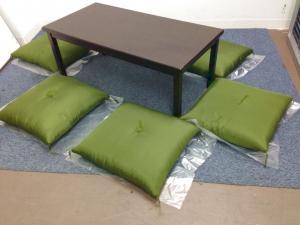 格安!!|【靴を脱いで上がるスペースの設置をお考えならこちら!】テーブル+ざぶとんのセット|