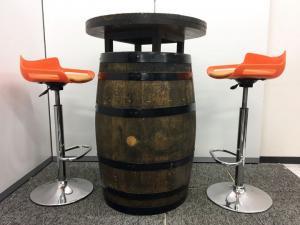 【セット商品】【樽テーブル+カウンターチェア】