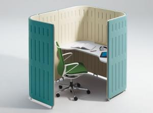 【1人用ブースセット】イノベーションブースユニット Muffle(マッフル) デザインパーティション【作業集中の個室として】
