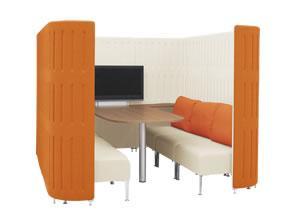 ■パネルとソファのセット■カラフルなセットも!会議をするのに集中したスペース