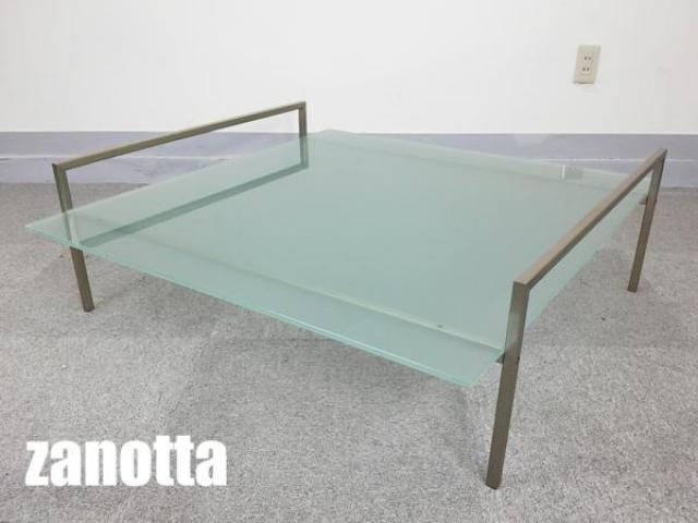 zanotta/ザノッタ skinny/スキニー ガラストップ センターテーブル
