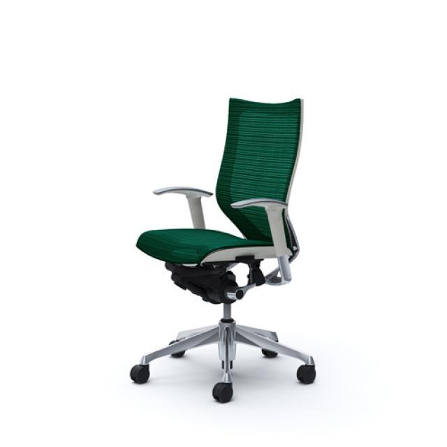 ホワイトボディ×ダークグリーン【自由な座り心地と操作感】