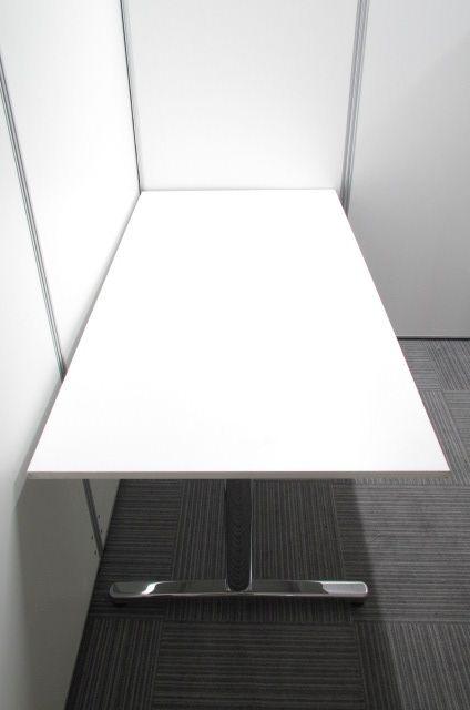 人気のホワイト色!T字脚タイプミーティングテーブル!|ST-1000シリーズ(中古)