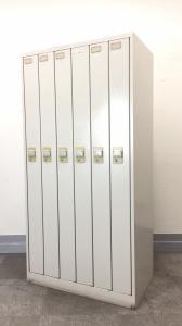 [縦型][スリムタイプ]6人用ロッカー ダイヤル錠タイプ 岡村製作所[使用感ある為お安くご案内!]