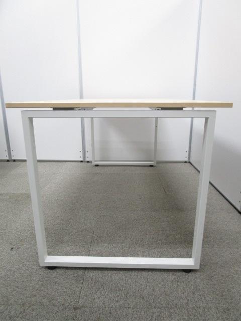 ★美品★4人掛けテーブルとしても活用可能なPLUS(プラス)製SQデスクシリーズ|中古オフィスデスク|ミーティングテーブル|木目|SQ(中古)