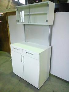 【関東倉庫在庫】2014年製、ホワイトの多機能キッチンキャビネット!!【A00487719】