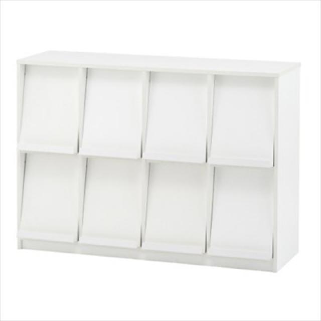 【アールエフヤマカワ製ラック】4×2の横置き収納!シンプルなデザインなので場所を選ばない