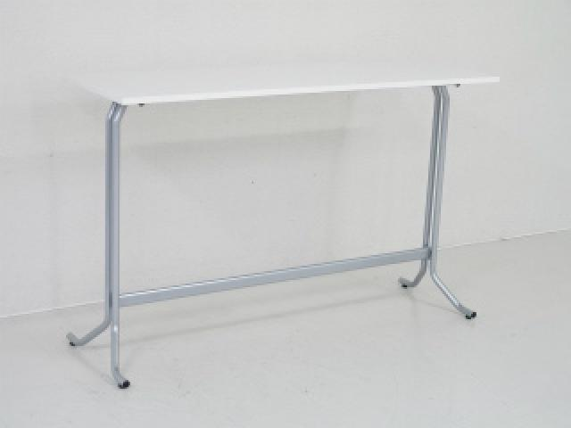 【地方倉庫在庫品】【ホワイトカラーのさわやかなハイテーブル】スリムなテーブル【RA】【378】