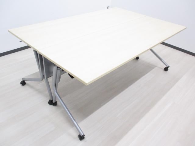 【限定4セット】[通常価格31600円がセットでお得!]サイドスタックテーブル フォールディングテーブル 幅1800㎜タイプ キャスター脚でらくらく移動!