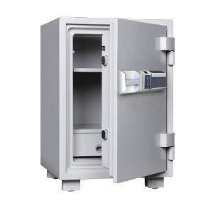 指紋式の家庭用耐火金庫です。サイズも大きめで大容量保管に適しています。