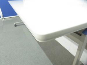 【今だけお買い得!】■コクヨ製 サイドスタックテーブル ■W1800×D600mm【足元を隠せる幕板パネル付】【β】 その他シリーズ(中古)