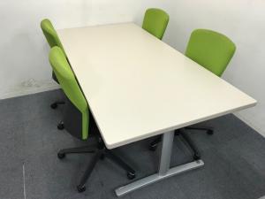 【セット商品】ミーティングセット W1800mmテーブルとルディオチェア4脚セット 会議や商談スペースに!